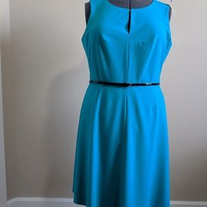 Calvin Klein teal dress, size 14. Gently used